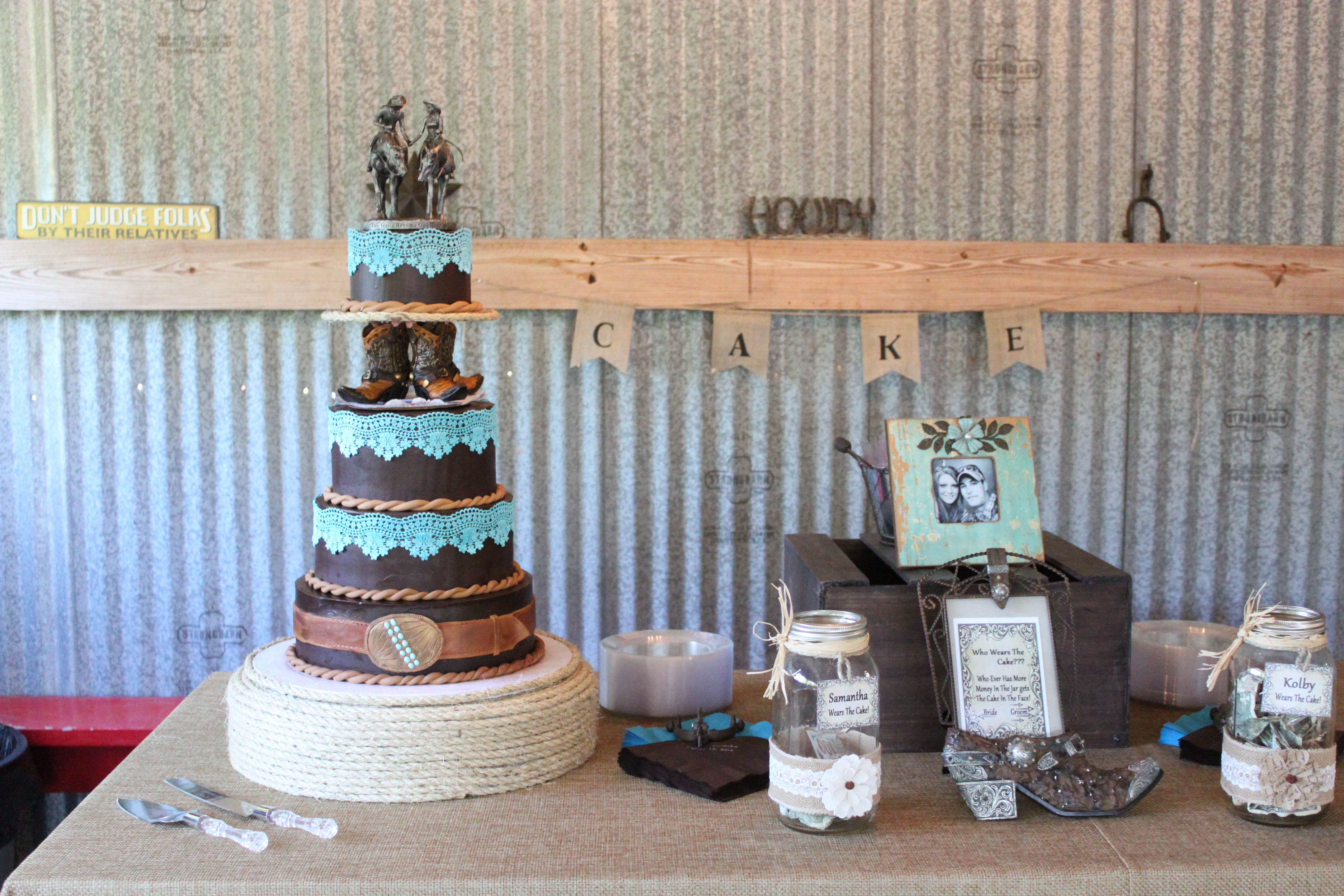 Gallery For Western Turquoise Wedding Cakes